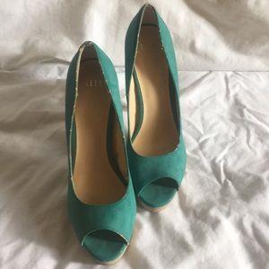 Teal heels